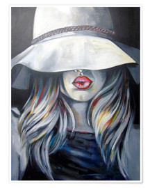 Poster Woman with hat