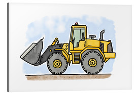 Alu-Dibond  Hugos wheel loader - Hugos Illustrations