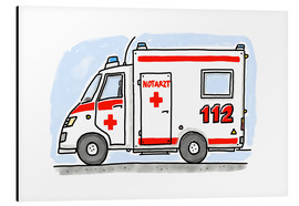 Alu-Dibond  Hugos ambulance - Hugos Illustrations