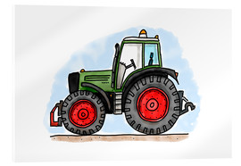 Verre acrylique  Le tracteur d'Hugo - Hugos Illustrations