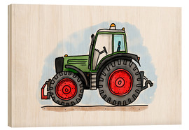 Bois  Le tracteur d'Hugo - Hugos Illustrations
