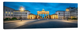 Toile  The Brandenburg Gate at night, Berlin, Germany - Jan Christopher Becke