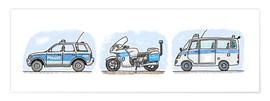 Hugos Illustrations - Hugos police set of 3