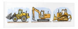 Hugos Illustrations - Hugos construction site 3-piece set