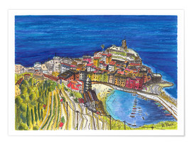 Poster View to Vernazza