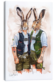 Toile  GAY RABBITS - Peter Guest