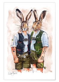 Poster  GAY RABBITS - Peter Guest