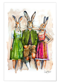 Poster Lapin et lapines