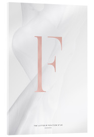 Tableau en verre acrylique  ROSEGOLD LETTER COLLECTION F - Stephanie Wünsche