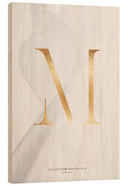 Tableau en bois  GOLD LETTER COLLECTION M - Stephanie Wünsche