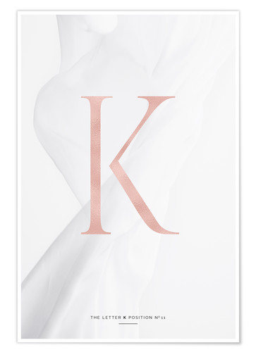 Poster Collection lettres rosées K (anglais)