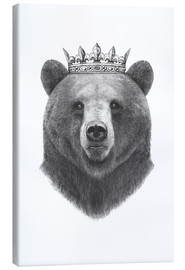 Toile  King bear - Valeriya Korenkova