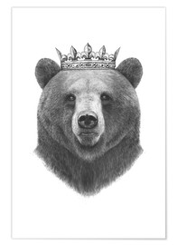 Poster  King bear - Valeriya Korenkova