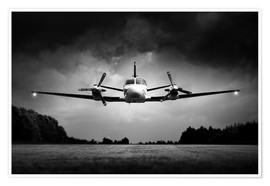Poster  Small airplane low flyby - Johan Swanepoel