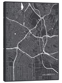 Toile  Los Angeles USA Map - Main Street Maps