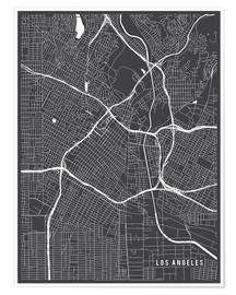 Poster  Los Angeles USA Map - Main Street Maps