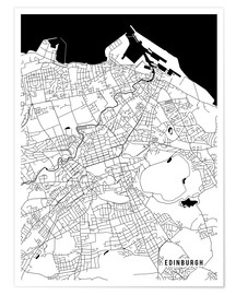 Poster  Edinburgh Scotland Map - Main Street Maps