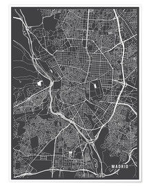 Poster  Carte de Madrid - Main Street Maps