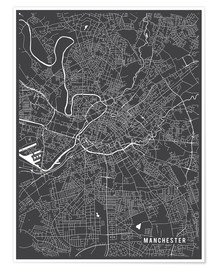 Poster Manchester England Map