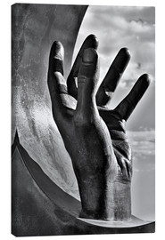 Toile  Gripping hand in black and white - Jörg Gamroth