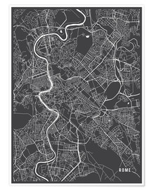 Poster Rome Italy Map
