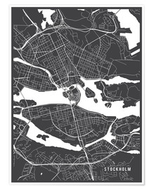 Poster  Stockholm Sweden Map - Main Street Maps