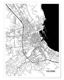 Poster Palermo Italy Map