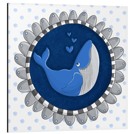 Tableau en aluminium  Billy la baleine bleue - Sandy Thißen