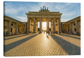 Toile  Germany, Berlin, Brandenburger Tor and Pariser Platz at backlight - Westend61