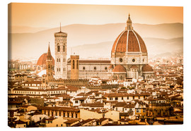 Toile  Cityscape with Cathedral and Brunelleschi Dome, Florence - Cubo Images