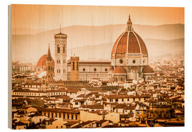 Bois  Cityscape with Cathedral and Brunelleschi Dome, Florence - Cubo Images