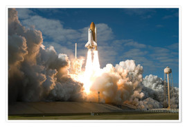Poster  Space shuttle Atlantis lifts off - Stocktrek Images