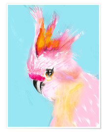 Poster Cockatoo on blue background