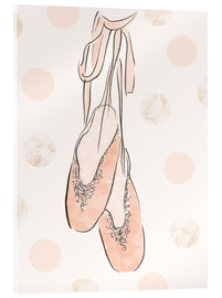 Verre acrylique  Ballet shoes on the wall