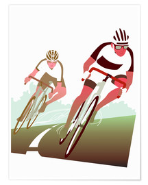 Poster Cyclist in a turn
