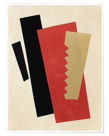 Poster Composition rouge or noir