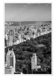 Poster  USA, New York, New York City, elevated view of the Upper West Side of Manhattan and Central Park fro - Walter Bibikow