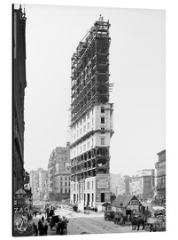 Glasshouse - Times Building under Construction, 42nd Street, New York City, USA, circa 1904