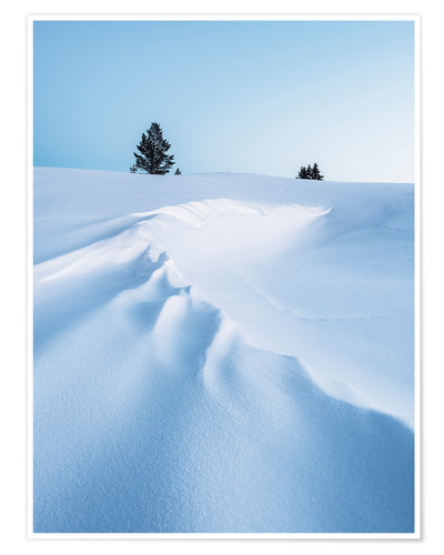 Poster Paysage d'hiver