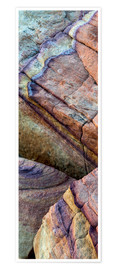 Poster  Colorful abstract lines in sandstone rocks - Judith Zimmerman