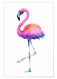 Poster  Flamant rose 2 - Miss Coopers Lounge