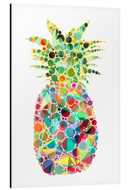 Tableau en aluminium  Ananas coloré - Miss Coopers Lounge