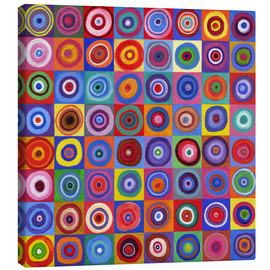 Toile  Carré de cercles selon Kandinsky - David Newton