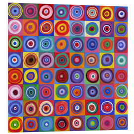 Tableau en PVC  Carré de cercles selon Kandinsky - David Newton
