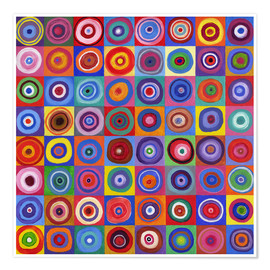 David Newton - Carré de cercles selon Kandinsky