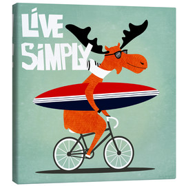 Tableau sur toile  gaby jungkeit live simply - coico