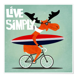 Poster  gaby jungkeit live simply - coico