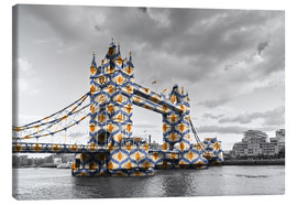 Toile  Tower Bridge Couleur Pop