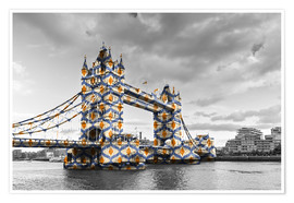 Poster  Tower Bridge en couleurs pop