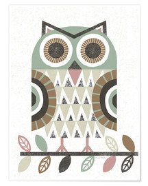 Poster  Folk Lodge Owl - Michael Mullan